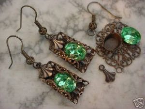 Earrings Are Made Using The Findings Shown At Right In Photo