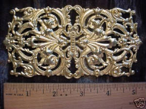 "A Large Raw Brass ""Yellow Gold"" Color Filigree. This Brass Has A Higher Zinc Content."