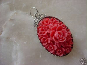A Filigree Is Glued To The Back Of A Bezel To Create A Simple But Pretty Pendant